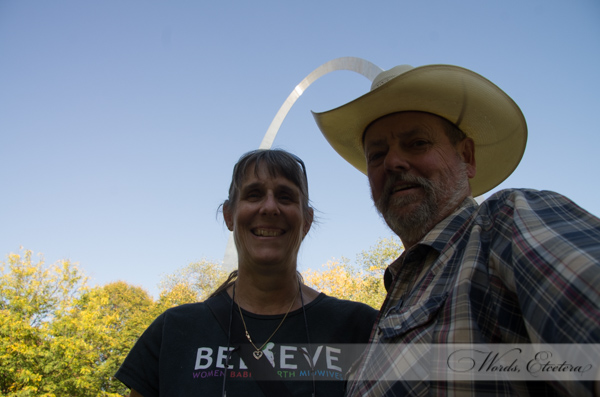 Richard and I in front of the St. Louis Arch at the MANA Convention!