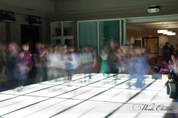4 second exposure of the dance floor