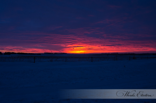 Sunrise over Watertown, SD